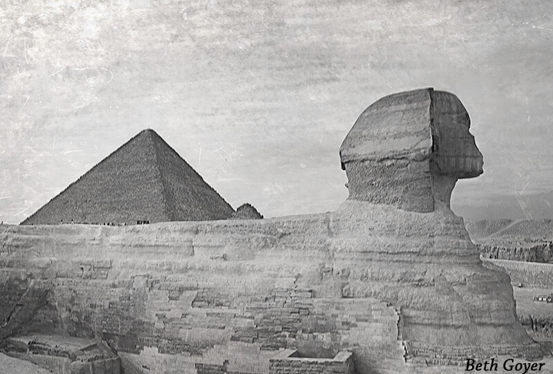 The Great Pyramid and Sphinx at Giza